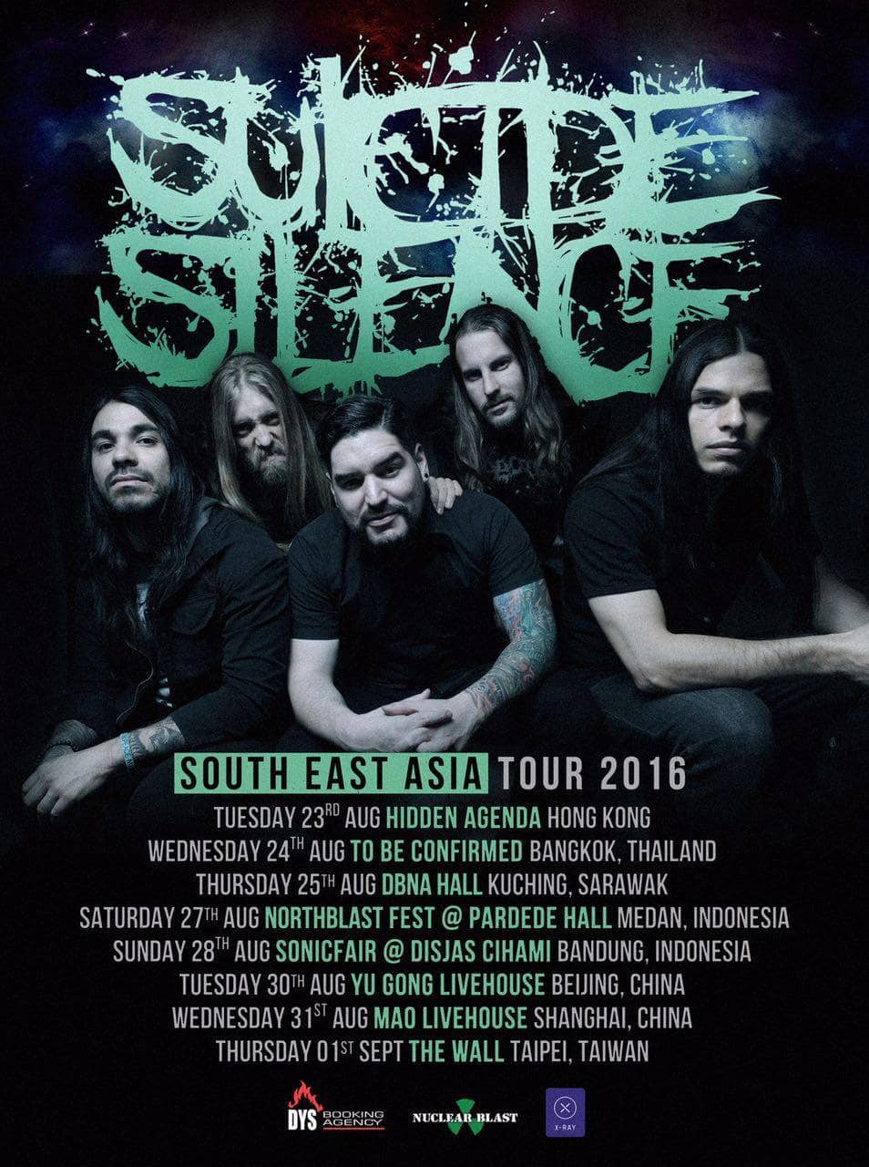 Suicide Silence SEA Tour Poster