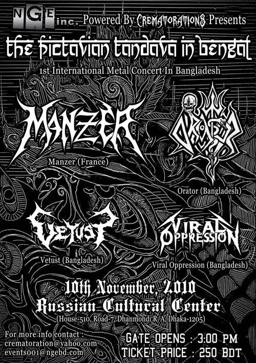 pictavian tandava, first gig in Bangladesh to feature an international metal band