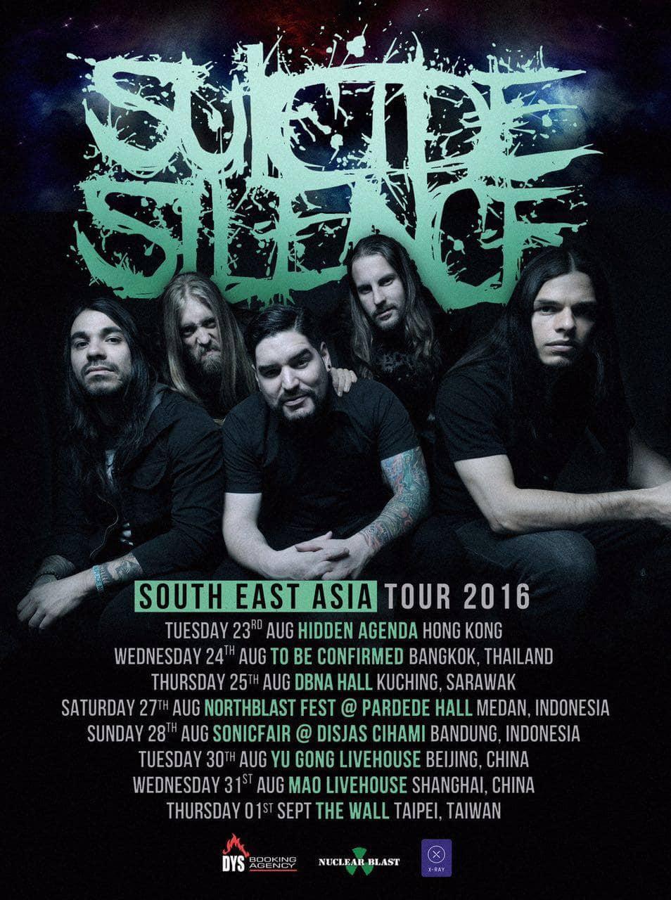 Suicide Silence SEA Tour Poster